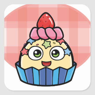 Boo Cupcake Products Square Sticker