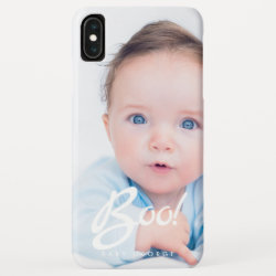 Boo! Custom Baby Photo and Name Typography iPhone XS Max Case