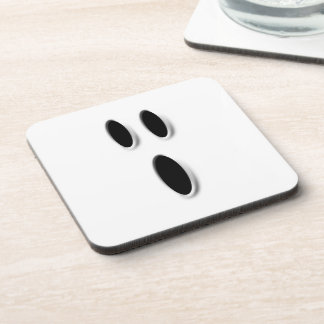 Boo Cute Ghost Face Spooky Halloween Party Drink Coasters