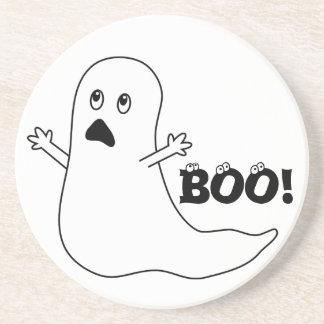 Boo! Cute Scared Ghost Cartoon Coaster