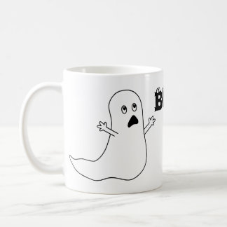 Boo! Cute Scared Ghost Cartoon Coffee Mug