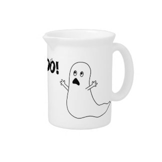 Boo! Cute Scared Ghost Cartoon Drink Pitchers