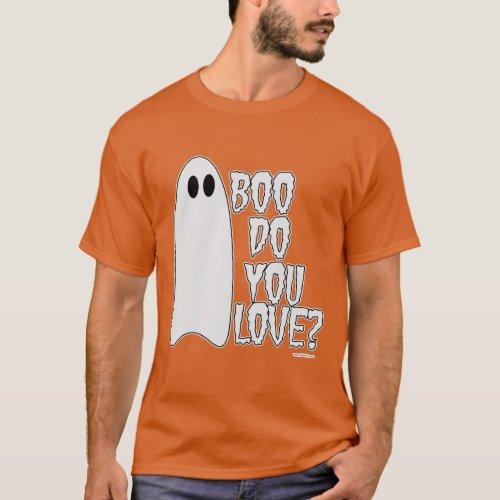 Boo Do You Love Halloween Slogan Dark T_Shirt