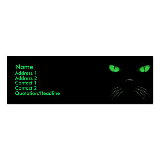 Boo - Emerald Profile Card Double-Sided Mini Business Cards (Pack Of 20)