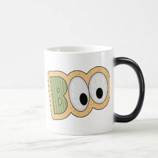 BOO Eyeballs Halloween Art 11 Oz Magic Heat Color-Changing Coffee Mug