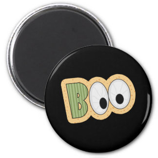BOO Eyeballs Halloween Art 2 Inch Round Magnet