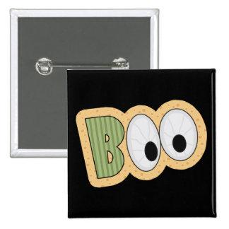 BOO Eyeballs Halloween Art 2 Inch Square Button
