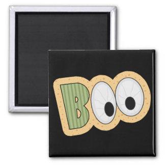 BOO Eyeballs Halloween Art 2 Inch Square Magnet