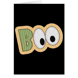 BOO Eyeballs Halloween Art Greeting Card