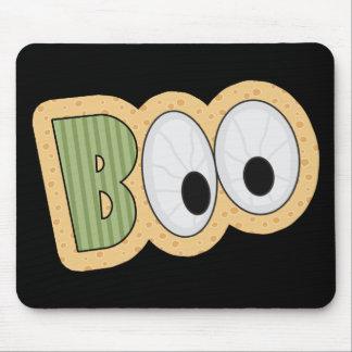 BOO Eyeballs Halloween Art Mouse Pad