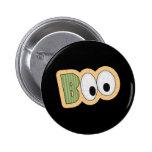 BOO Eyeballs Halloween Art Pinback Buttons