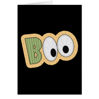 BOO Eyeballs Halloween Art Stationery Note Card