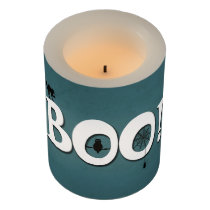Boo! Flameless Candle