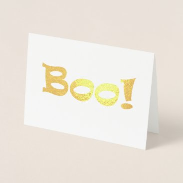 Halloween Themed Boo! Foil Card