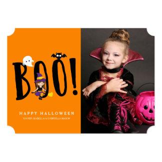 Boo & Friends Halloween Photo Card