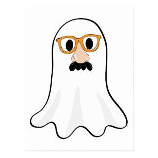 Boo! Funny Ghost in Halloween Costume Postcard