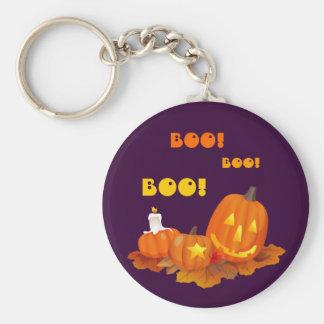 Boo! Funny Jack O'Lanterns Halloween Keychains
