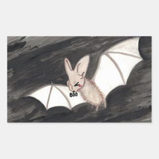 (BOO) Ghost Bat Rectangular Sticker