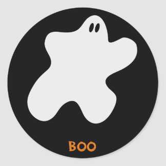 Boo Ghost Classic Round Sticker