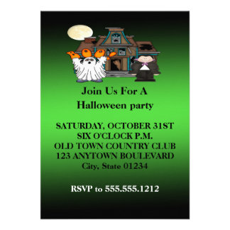 Boo Ghost Dracula Halloween Invitations