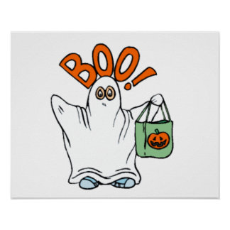 Boo Ghost Posters