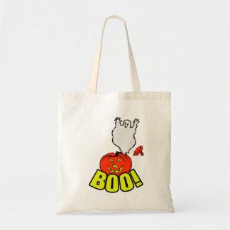 BOO Ghost & Pumpkin Tote Bag