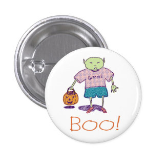 Boo! Ghoulie Button