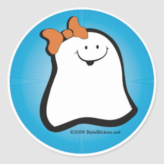 Boo Girl Classic Round Sticker