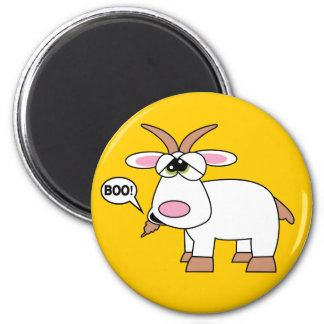 Boo! Goat 2 Inch Round Magnet