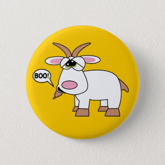 Boo! Goat Pinback Button