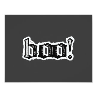 Boo! Gothic Engraved 4.25x5.5 Paper Invitation Card