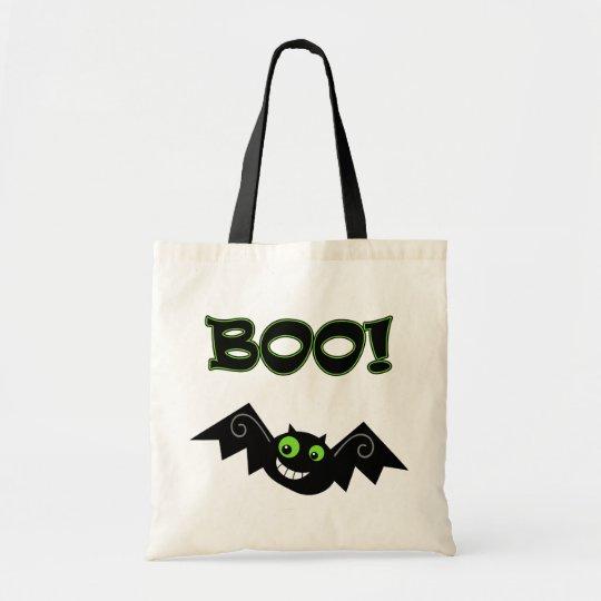 BOO! Green Eyes Tote Bag