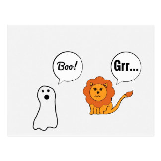 Boo & grr shirt postcard