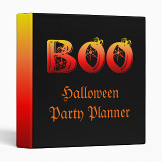 Boo Halloween 3 Ring Binder