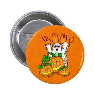 Boo Halloween Button