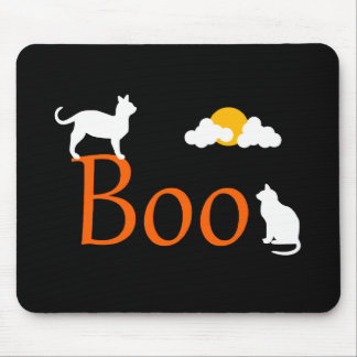 Boo! Halloween Cats and Moon Mouse Pad