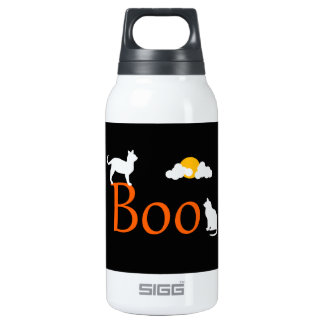 Boo! Halloween Cats and Moon Thermos Bottle