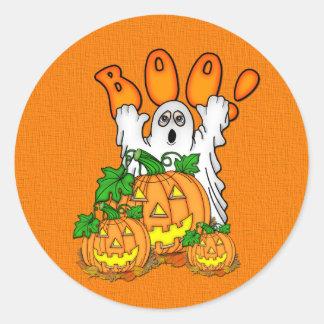 Boo Halloween Classic Round Sticker
