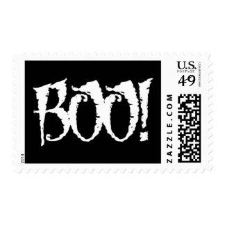 Boo! Halloween Custom Postage Stamp