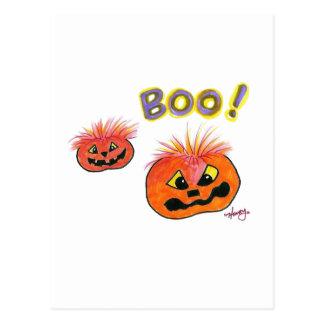 Boo Halloween design Postcard