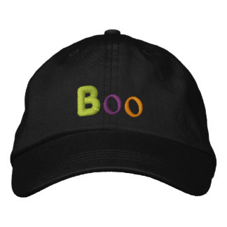 Boo Halloween Embroidered Baseball Hat