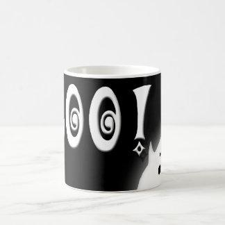 Boo! Halloween ghost black Coffee Mug