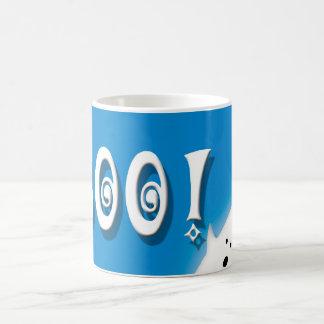 Boo! Halloween ghost blue Coffee Mug