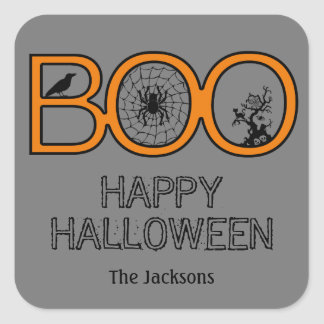 Boo Halloween Gift Tag Stickers Stickers