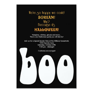 Boo Halloween Invitation