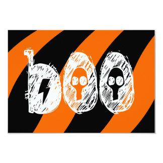 """boo"" Halloween invites tricks Party Invitations"
