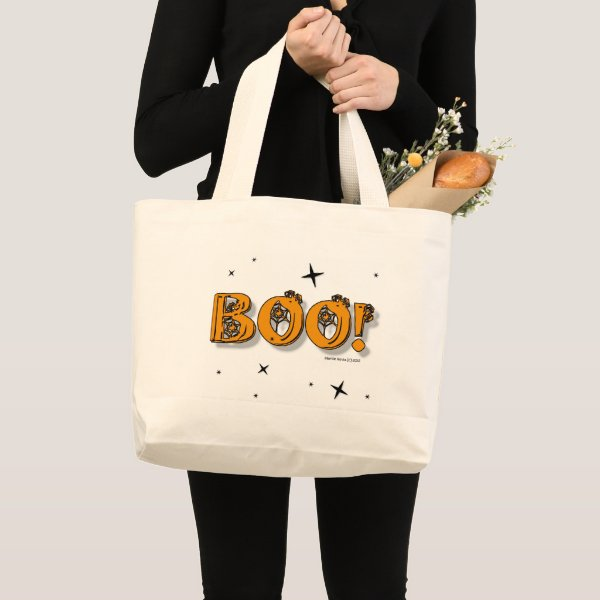 Boo! Halloween Large Tote Bag