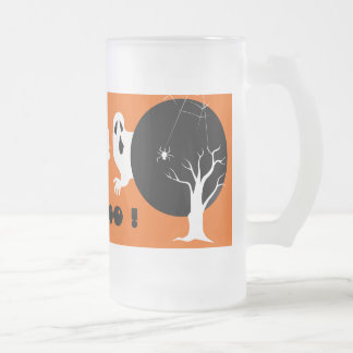 Boo ! Halloween 16 Oz Frosted Glass Beer Mug