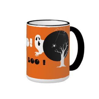 Boo ! Halloween Ringer Coffee Mug