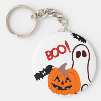 Boo Halloween Novelties Basic Round Button Keychain